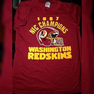 Vintage 1987 Washington Redskins NFC Champions T L